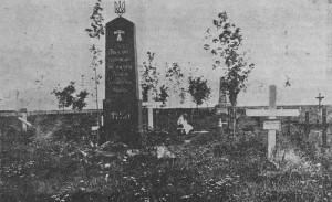 Вдова на могилі бійця. Щепйорно, Польща. 1923 р.