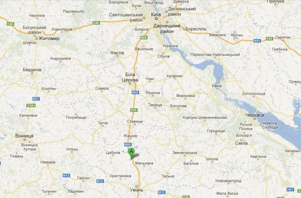 Село Соколівка розташоване обабіч траси Київ-Одеса (М 05)