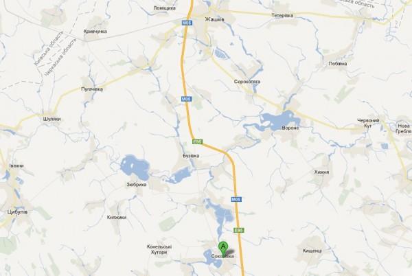 Село знаходиться за 25 км на південь від районного центру і залізничної станції Жашків
