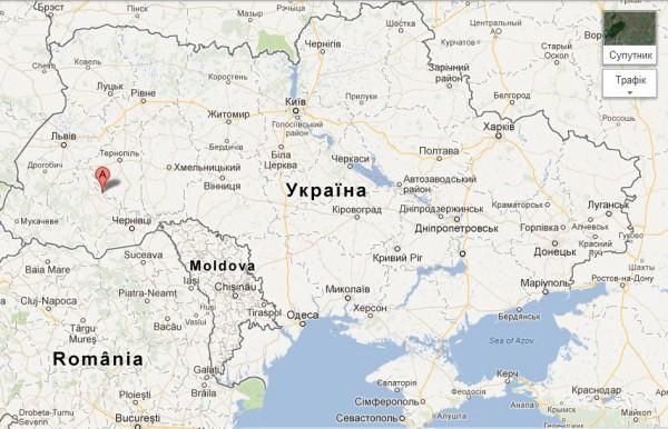 Нижнів на мапі України