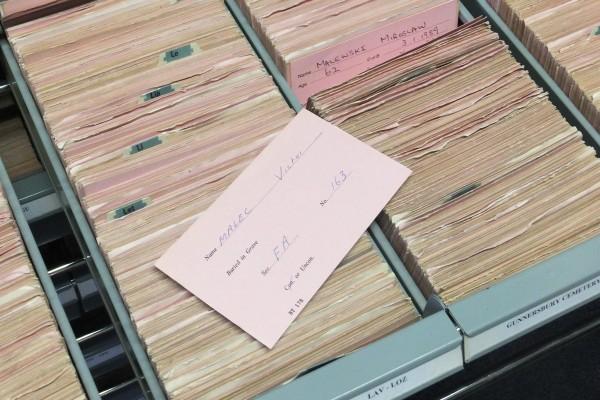 Облікова картка на поховання В. Мальця