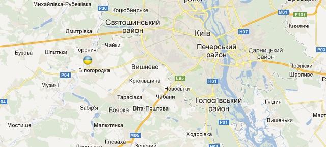 Гнатівка позначена на мапі українським прапорцем
