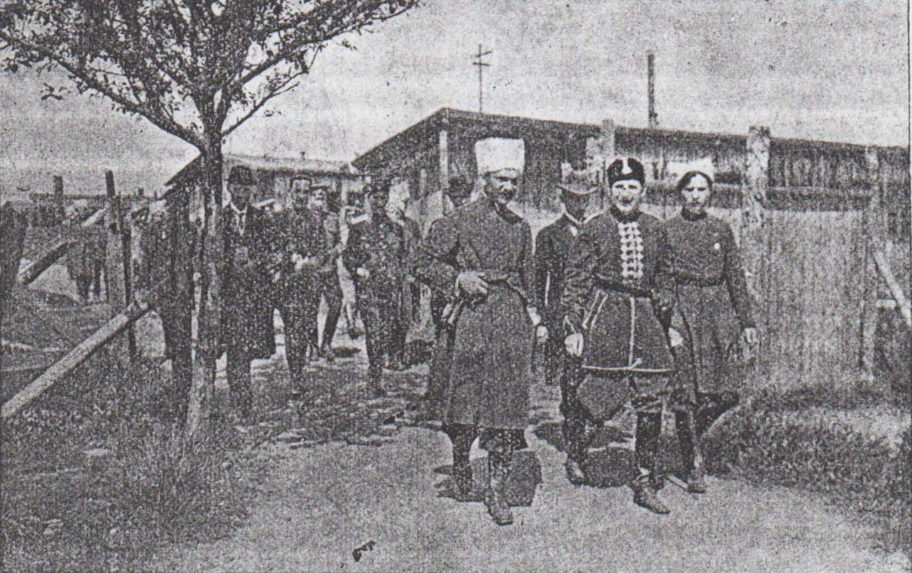 Вецлярський табор. Кн. Кочубей, відпоручник гетьмана Павла Скоропадського, відвідує табор.