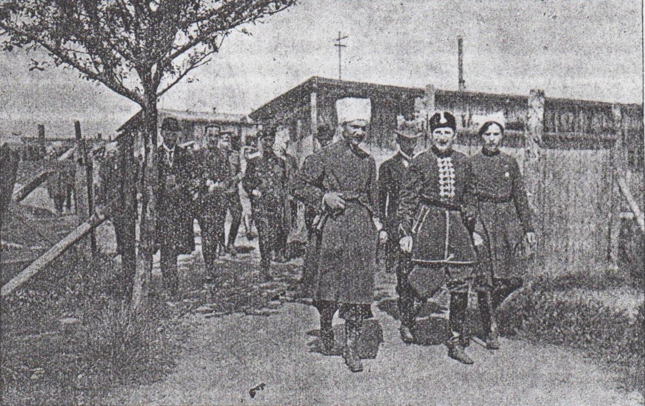 Camp at Wetzlar. prince V. Kochubey, appointe of hetman Pavlo Skoropadsky at visit