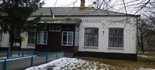 Зеленьківська сільрада з прапором, під яким воював О. Загродський