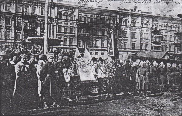 Дефіляда синожупанників у Києві по приїзді з Німеччини