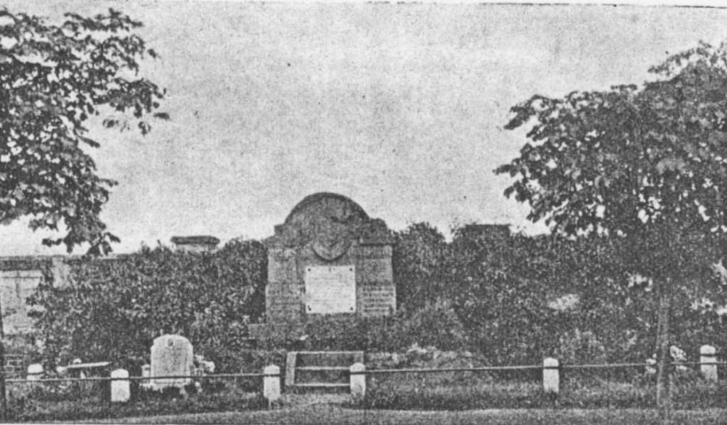 Памятник на могилах 153 вояків УГА в Берні на Моравах, поставлений «Товариством Охорони Воєнних Могил».
