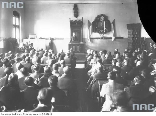 Урочиста академія за С. Петлюрою. Краків, Польща, 1927 рік.