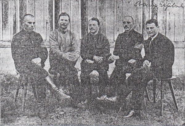 """Президія """"Народної Ради"""" у таборі полонених у Вецлярі. Червень 1917 р."""