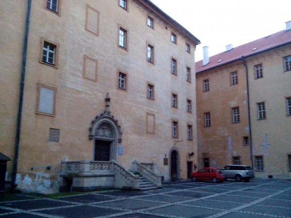 Подєбрадський замок, внутрішній двір.