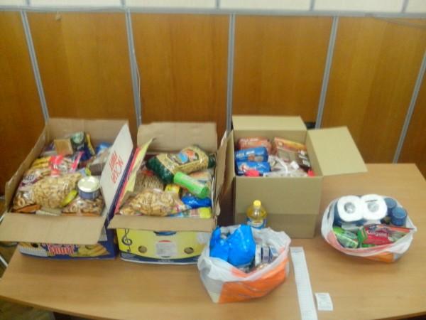 Продукти та засоби гігієни, які ми зібрали за 2 дні проведення акції