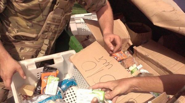"""Засоби гігієни зібрані нашими волонтерами в супермаркеті """"Фуршет"""""""