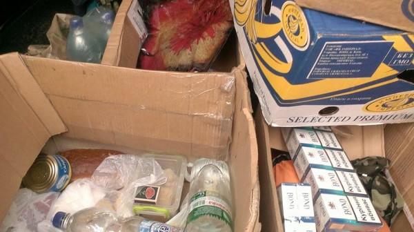 """Продукти зібрані нашими волонтерами в супермаркеті """"Фуршет"""""""