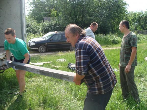 Сергій Рибачук в перший день роботи на старому Будаївському кладовищі