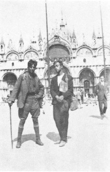 Віктор Цимбал і Юрій Вовк у Венеції, 1926 р.