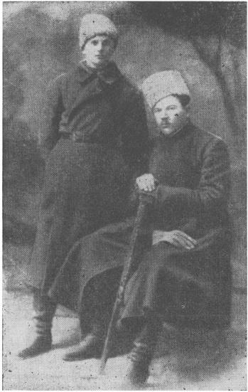 Іван Ухів зі своїм джурою Василем Галущаком