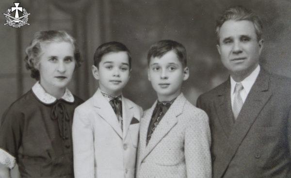 Емілія, Олександр, Зиновій та Яків Балабани, США - друга половина 1950-х років.